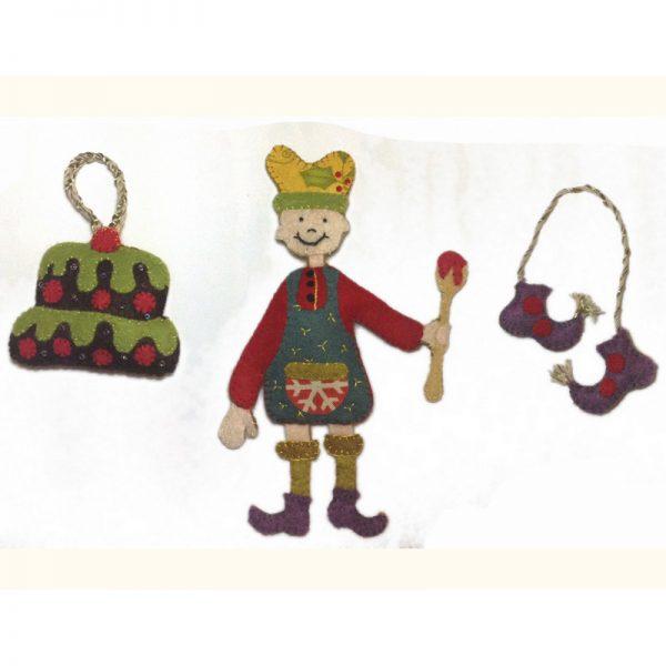 Petits personnages en feutrine - le Lutin Pâtissier