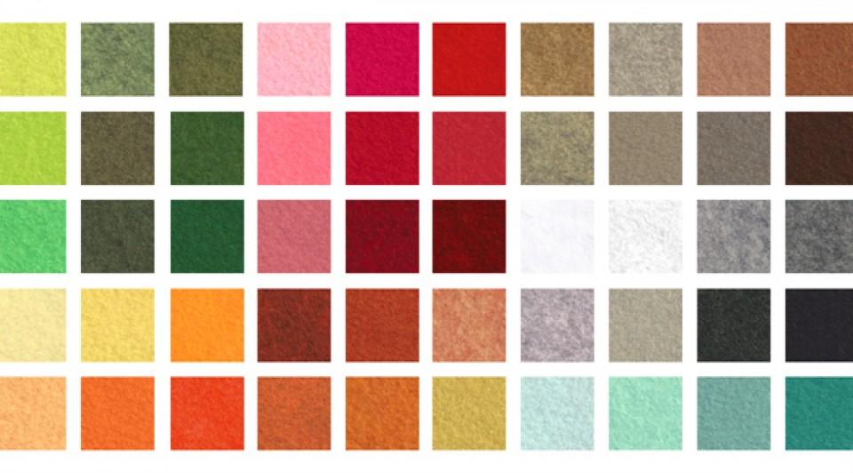 Plus de 75 teintes de feutrines de laine »