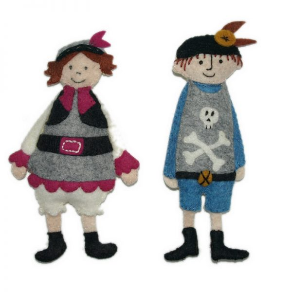 Monsieur et Madame Pirate en feutrine