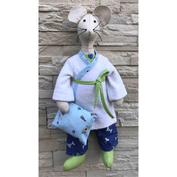 Hortense la Souris en Pyjama une fois cousue