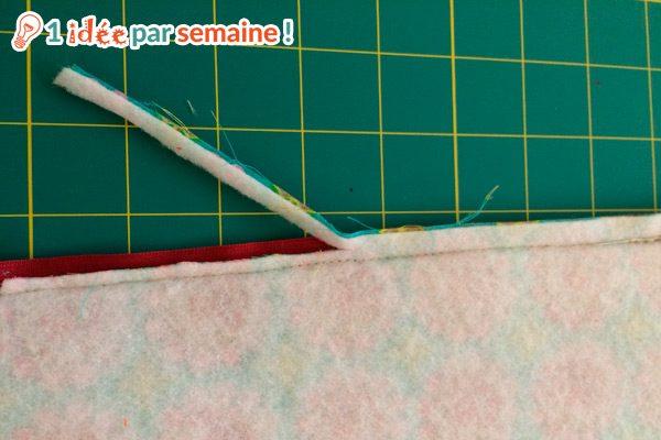 Si vous avez utilisé de l'entoilage ou du molleton thermocollant, réduisez les coutures qui en comportent