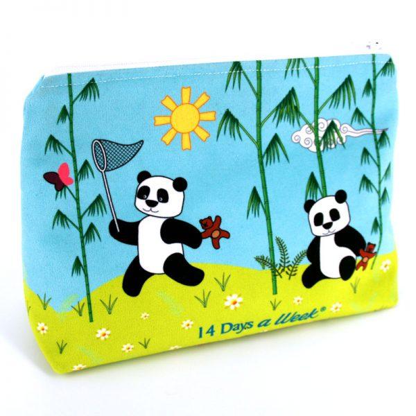 GT-1621 - Grande Trousse Pandas Bleue (une fois cousue, face arrière)