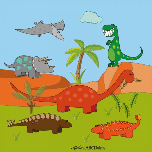 PP-1636 Petit Panneau Dinosaures