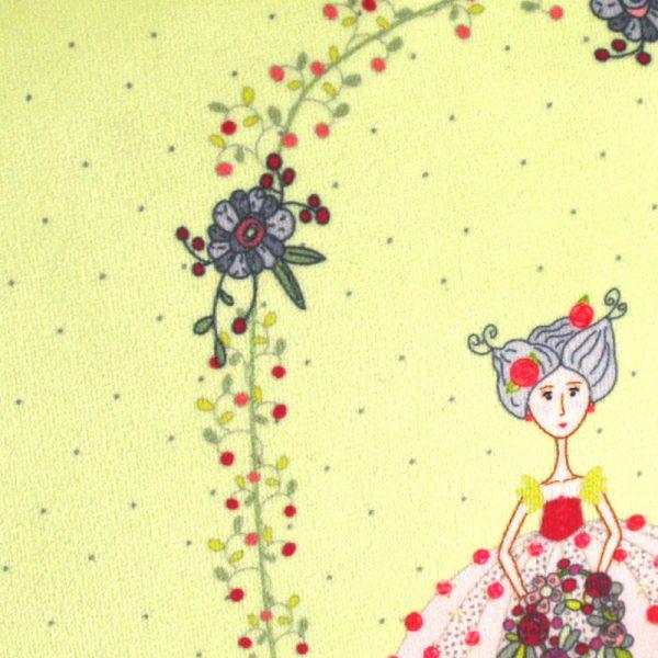 GT-1648 – Grande Trousse Jeune Fille aux Fleurs Verte (détail)