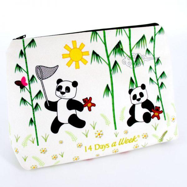 GT-1656 - Grande Trousse Panda Blanche (une fois cousue, face arrière)