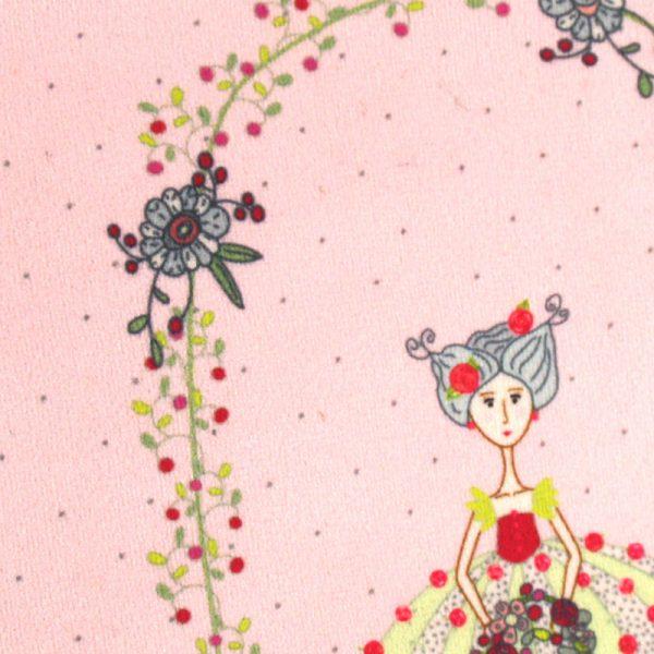 GT-1658 – Grande Trousse Jeune Fille aux Fleurs Rose (détail)