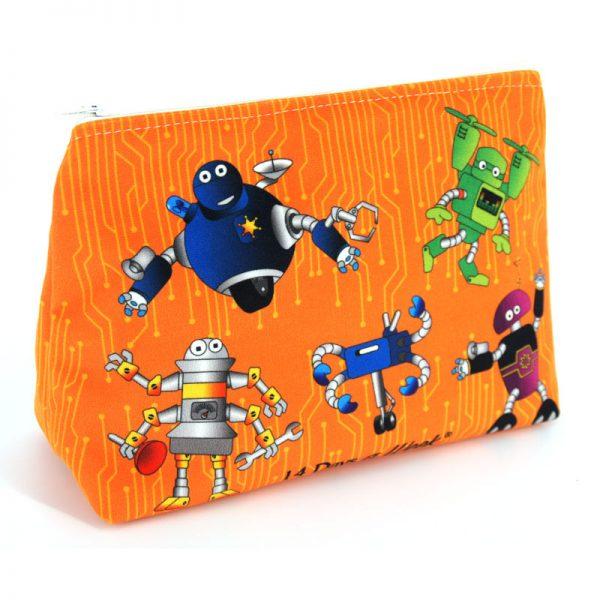 GT-1694 – Grande Trousse Robots Orange (une fois cousue, face arrière)