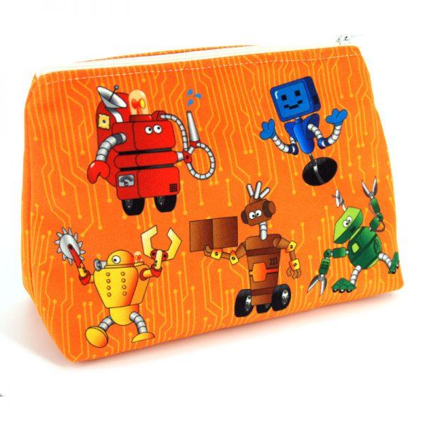 GT-1694 – Grande Trousse Robots Orange (une fois cousue, face avant)