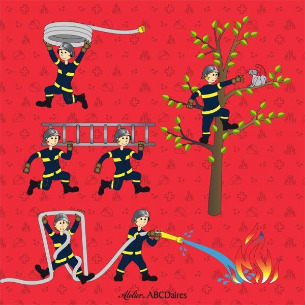 PP-1664 - Petit Panneau Pompiers
