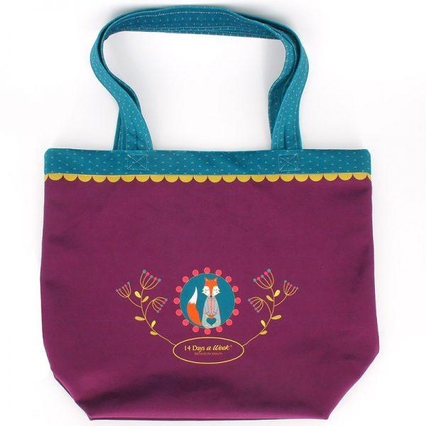 Tote-Bag Madame Renard Prune (arrière)