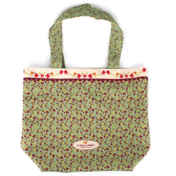 TB-1730 - Tote-Bag le Vrai Bonheur Vert (arrière)