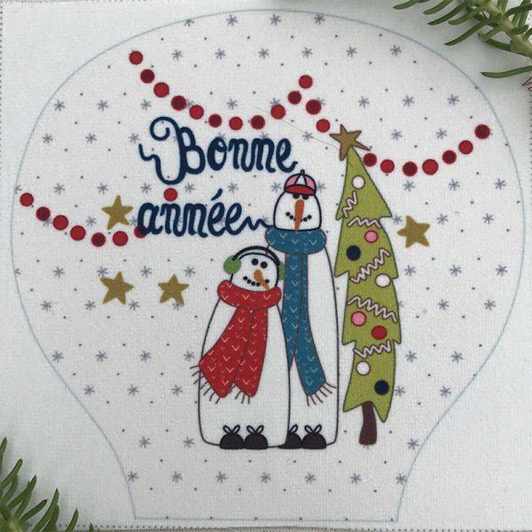 Bonhommes de neige - velours seul