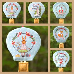 Série de cinq montgolfières style scandinave