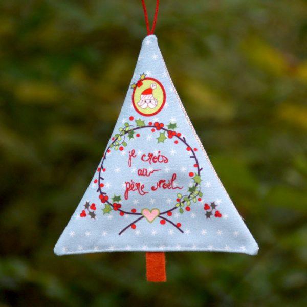 Sapin déco de Noël je crois au Père Noël scandinave