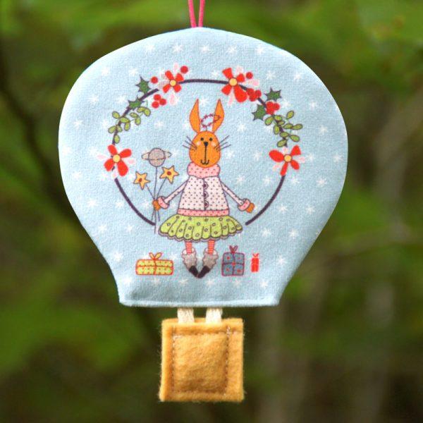 Montgolfière déco de Noël lapine en tutu scandinave