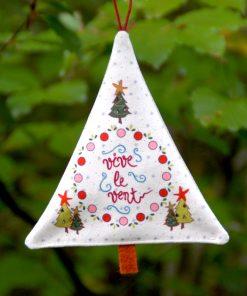 Sapin déco de Noël vive le vent classique
